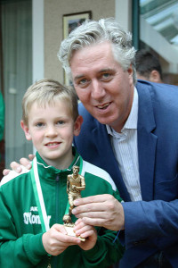 Shane O'Connor U11 player of the year.