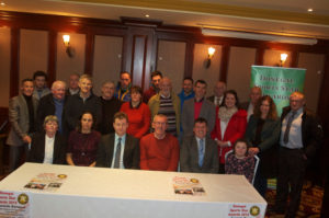 Special guests who attended last year's launch in the Mount Errigal Hotel with County Council CEO Seamus Neely and Donegal Sports Star Awards Chairperson Neil Martin.