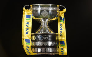 """27 September 2016; A general view of the FAI Junior Cup. This is Aviva's 5th year sponsoring the FAI Junior Cup, the largest amateur football competition in Europe with over 600 teams beginning on the #RoadToAviva this weekend. Aviva's sponsorship ensures the Final will be played at the Aviva Stadium next May while they have also launched the """"Put Your Name on It"""" campaign which encourages clubs to put their name on the competition in different ways to be in with a chance to secure unique prizes for their clubs including High Performance Training Sessions and Training & Match Video Analysis. For more information log on to www.aviva.ie/faijuniorcup #RoadToAviva. Aviva Stadium in Dublin. Photo by Brendan Moran/Sportsfile *** NO REPRODUCTION FEE ***"""