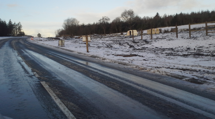 Slippery road condition in the North West Region