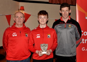 jack-molloy-most-improved-u16-footballer-with-vinny-harte-and-david-clarke-at-the-coolera-strandhill-awards-night