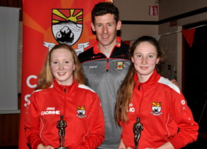 sisters-caoimhe-minor-player-of-the-year-and-cliodhna-o-sullivan-u12-player-of-the-year-with-david-clarke