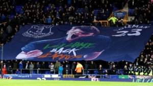 Everton fans welcome back Seamus Coleman