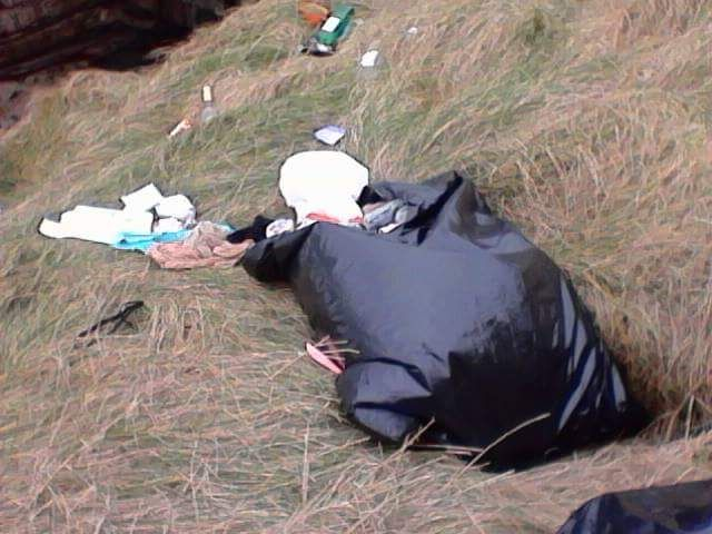 Rubbish dumped at Mullaghmore