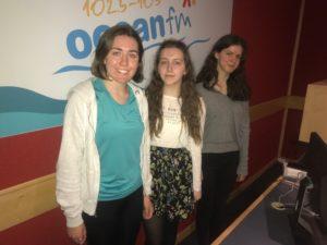 Ursuline students Kate, Niamh and Ellen