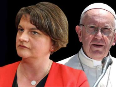 Arlene Foster declines invitation to Pope Francis visit