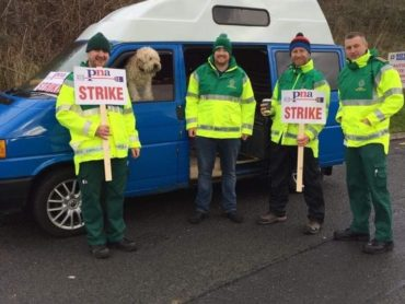 Ambulance personnel strike across the north west