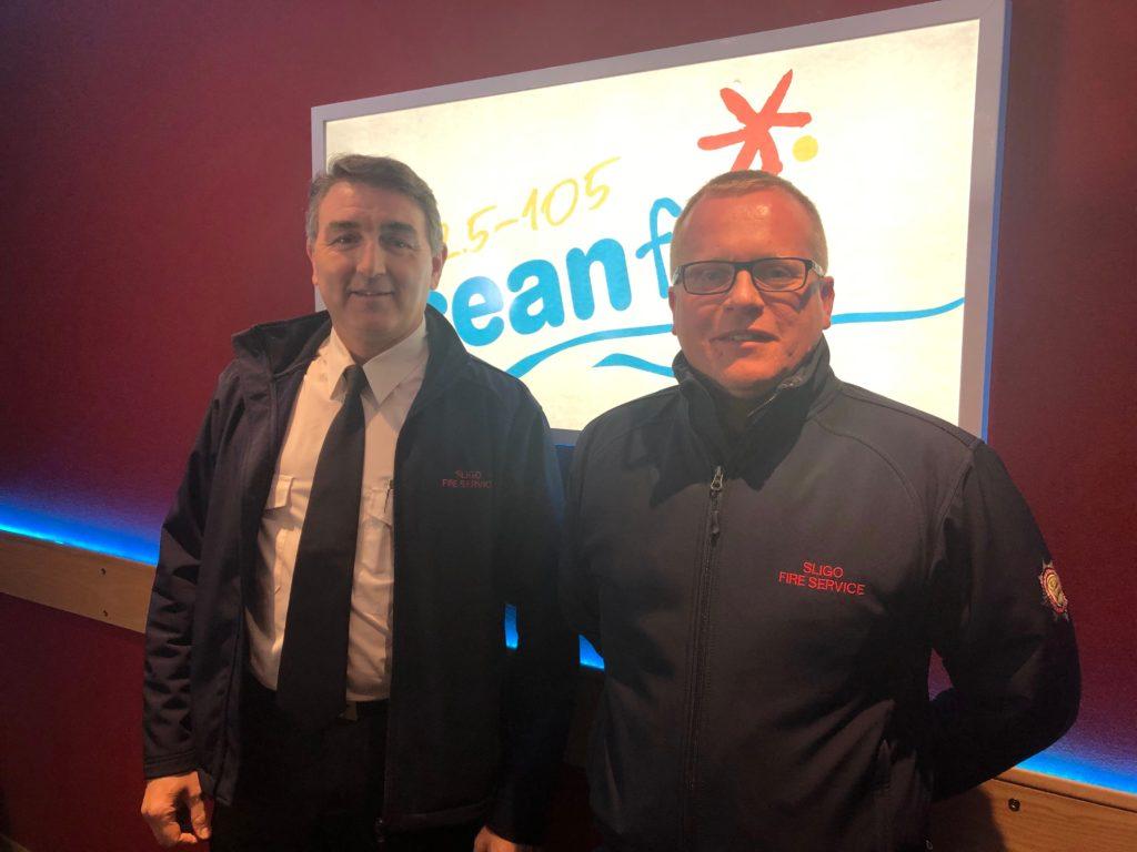 Tom O Boyle and Brendan Henry Sligo Fire Services Ocean FM