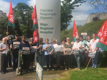 SIPTU support workers are on strike across the region today