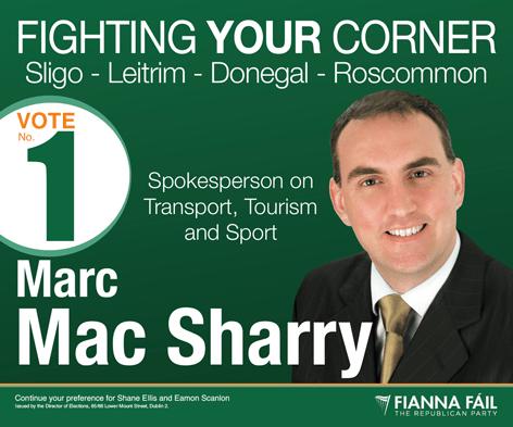 Marc MacSharry Spokesperson on Transport, Tourisim and Sport