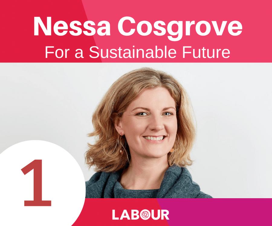 Nessa Cosgrove for a sustainable future.