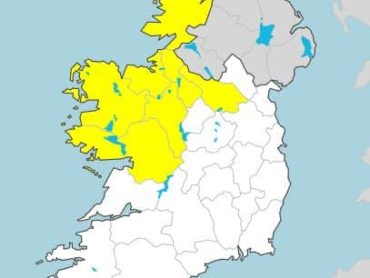 Yellow weather warning issued for north west