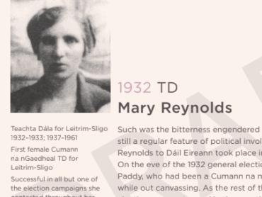Remembering Sligo-Leitrim's first female TD on International Women's Day